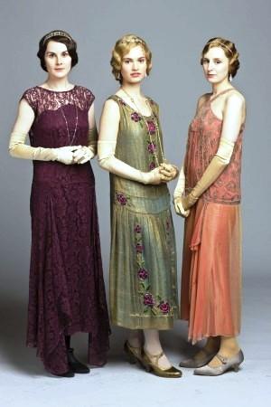 1920- платья из Аббатства Даунтон