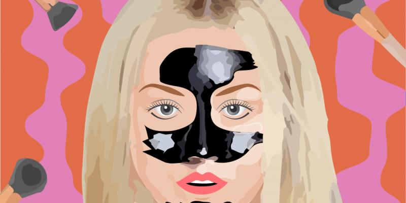 черная маска пленка для лица наносится на Т-зону