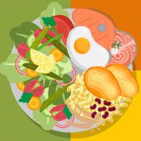 простое правильное питание - блюдо со здоровой едой